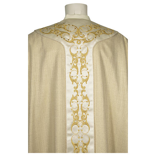 Catholic Chasuble in 90% wool 10% lurex with Cross and decorations 2