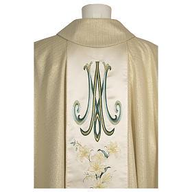Casula con madonna e fiori pura lana vergine e lurex s3