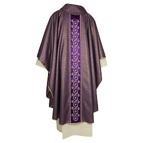 Chasuble 100% wool with flowers and plants s4