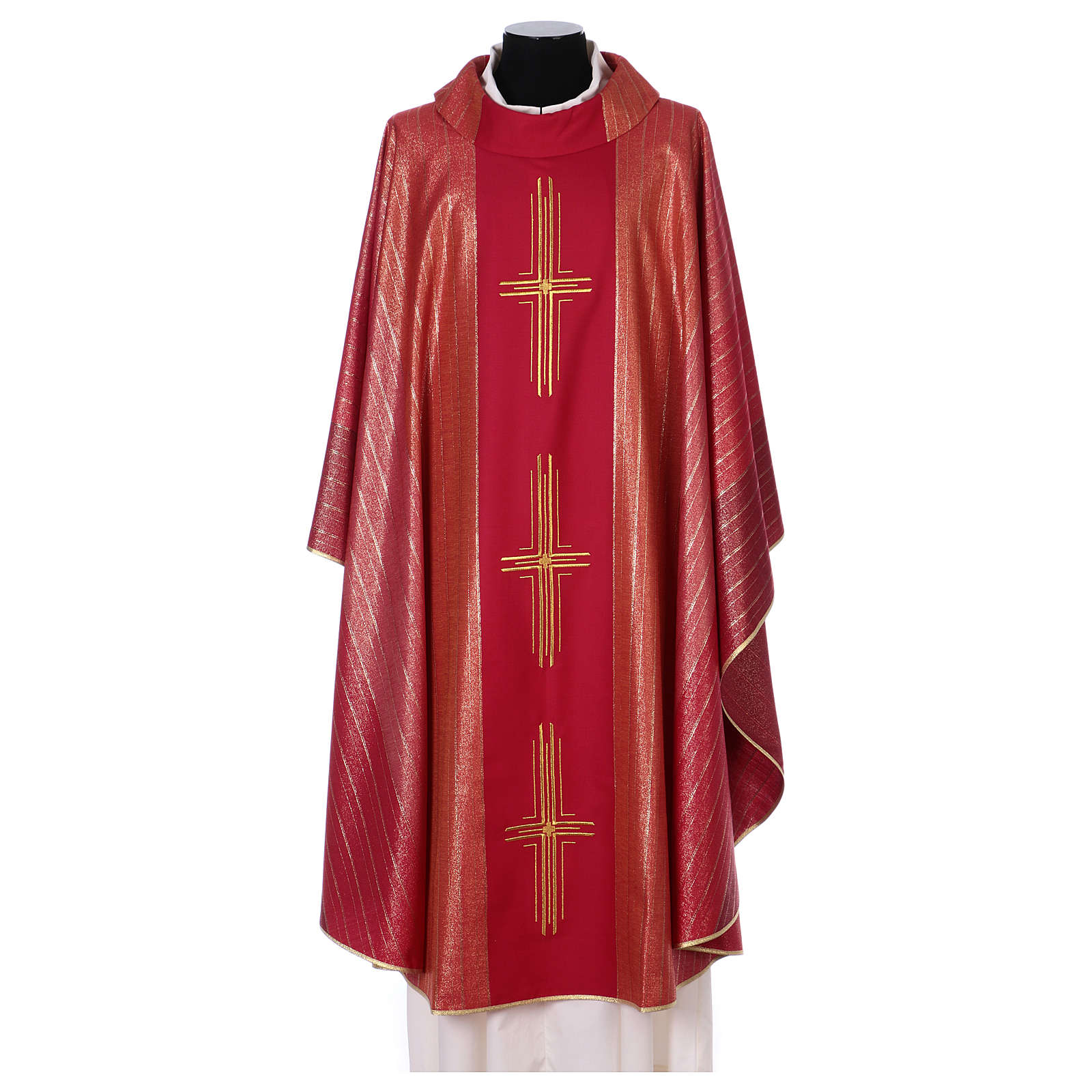 Chasuble 100% wool Tasmania with three crosses 4