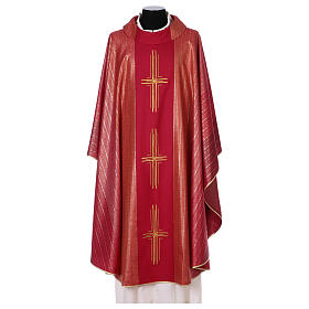 Chasuble 100% wool Tasmania with three crosses s1