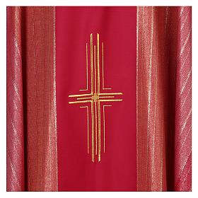 Casulla 100% pura lana virgen doble torcido Tasmania 3 cruces s2
