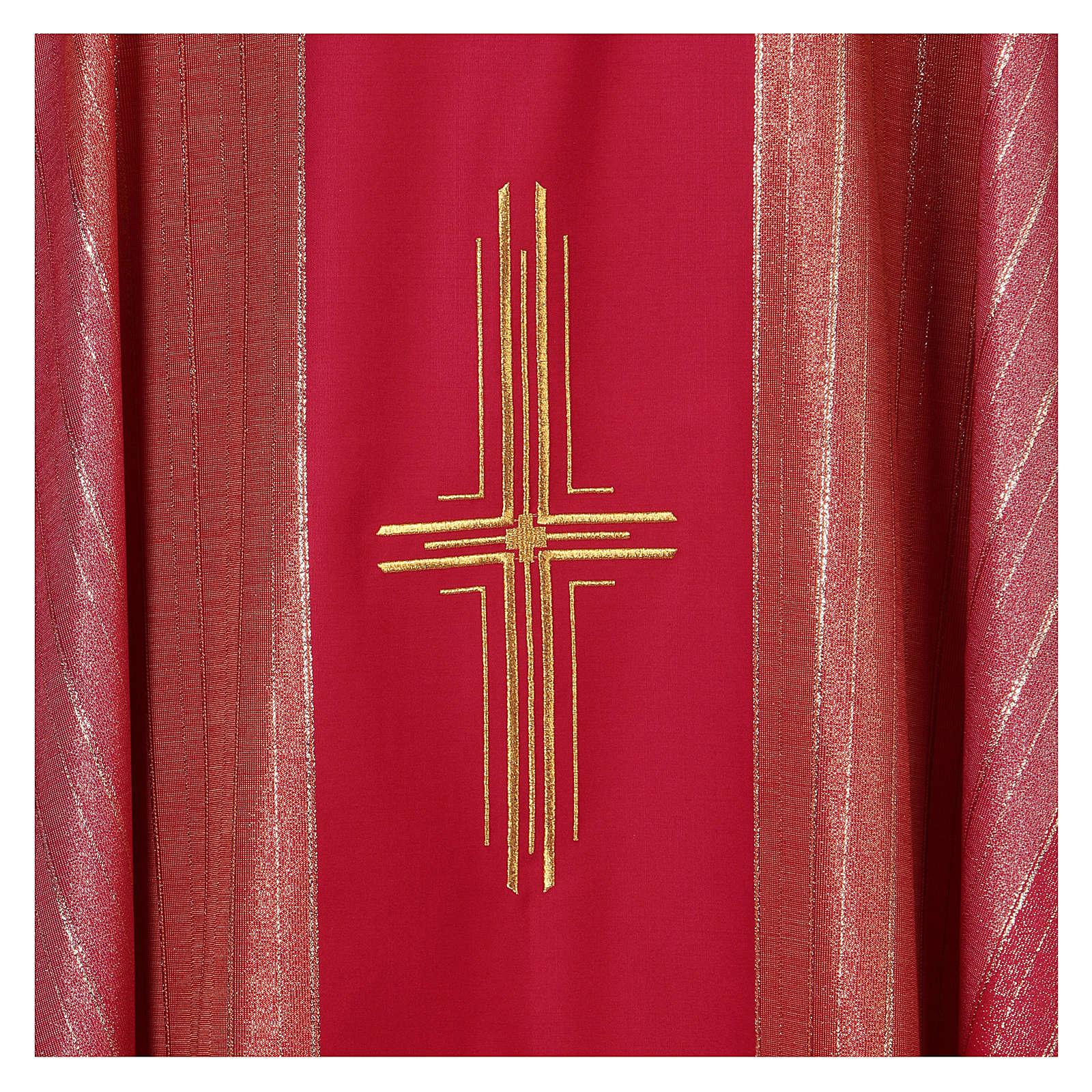 Chasuble 100% pure laine vierge double retors Tasmanie 3 croix 4