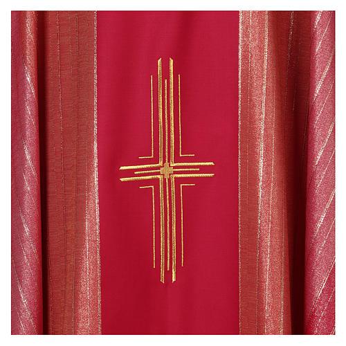 Chasuble 100% pure laine vierge double retors Tasmanie 3 croix 2