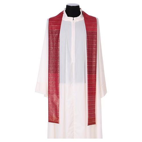 Chasuble 100% pure laine vierge double retors Tasmanie 3 croix 5