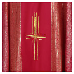 Sacred Chasuble 100% wool Tasmania with three crosses s2