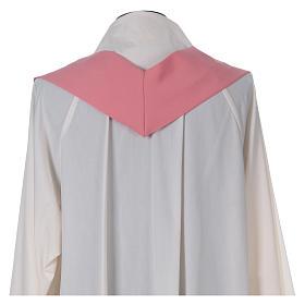 Casula sacerdotale 100% poliestere con spighe croce uva rosa s6