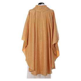 STOCK golden chasuble made of golden fabric and faille 50% wool SMALL DEFECT s2