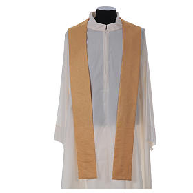 STOCK golden chasuble made of golden fabric and faille 50% wool SMALL DEFECT s6