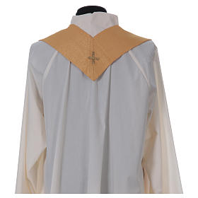 STOCK golden chasuble made of golden fabric and faille 50% wool SMALL DEFECT s7