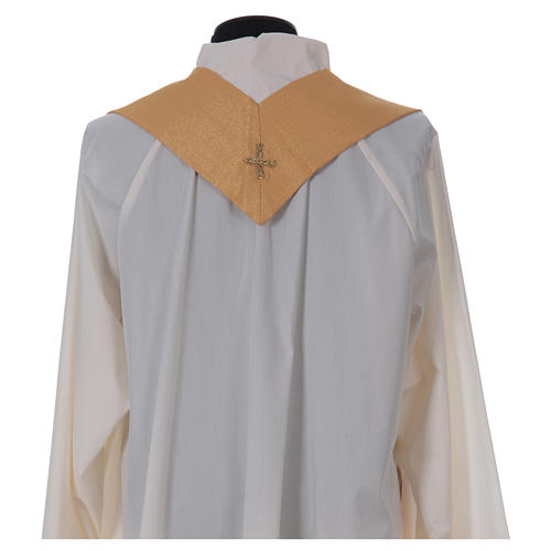 STOCK golden chasuble made of golden fabric and faille 50% wool SMALL DEFECT 7