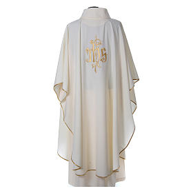 Chasuble polyester décor IHS s2