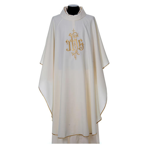 Chasuble polyester décor IHS 1