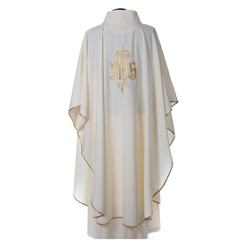 Chasuble polyester décor IHS 2