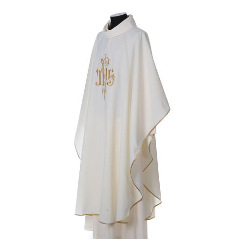 Chasuble polyester décor IHS 3