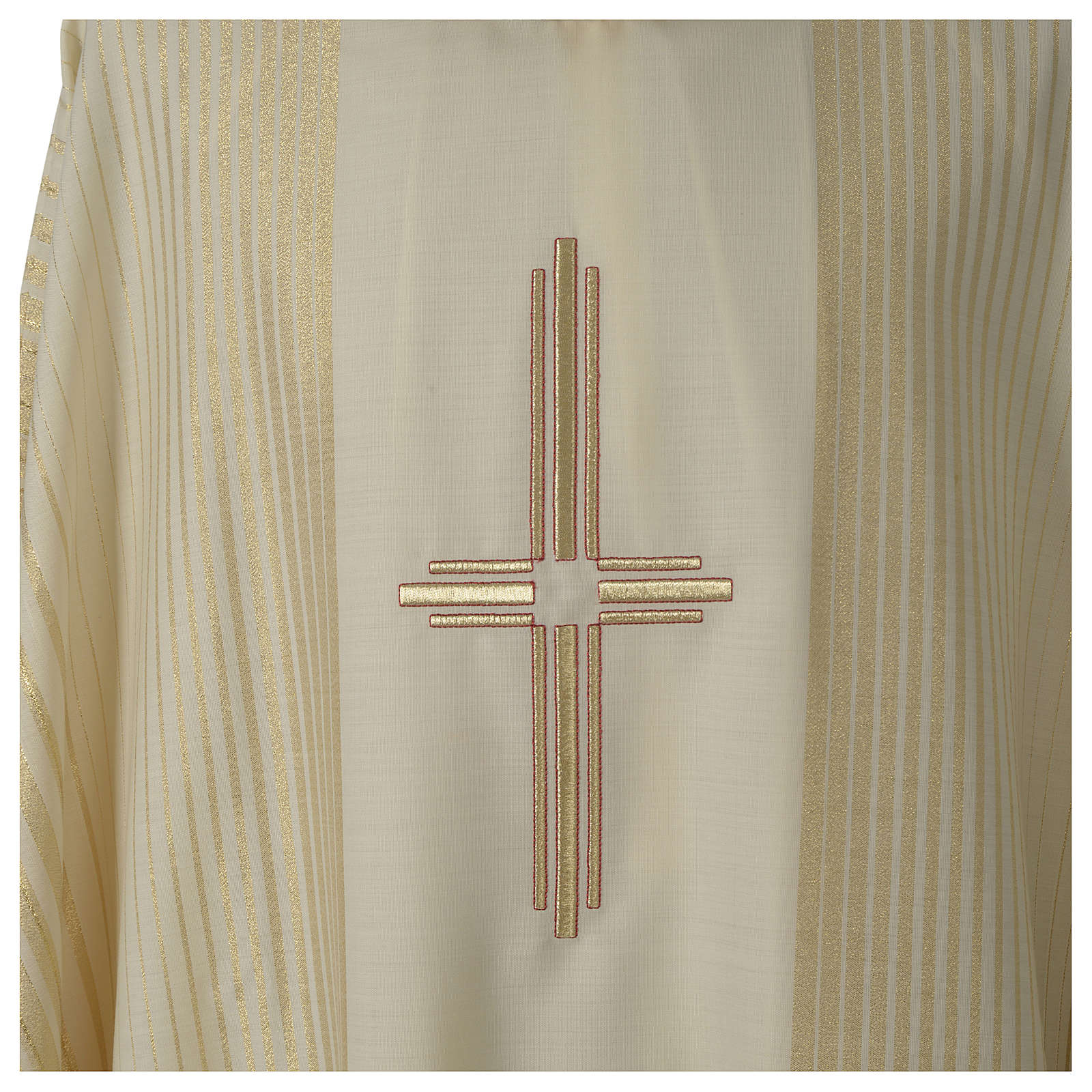 Chasuble in lurex wool with cross 4