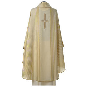 Chasuble in lurex wool with cross s5