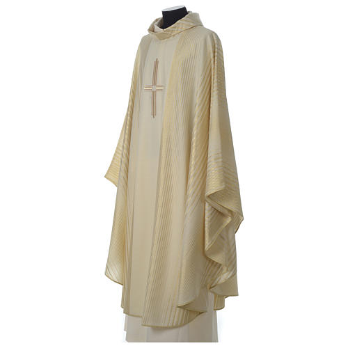 Chasuble in lurex wool with cross 3