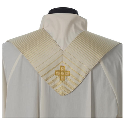 Chasuble in lurex wool with cross 8