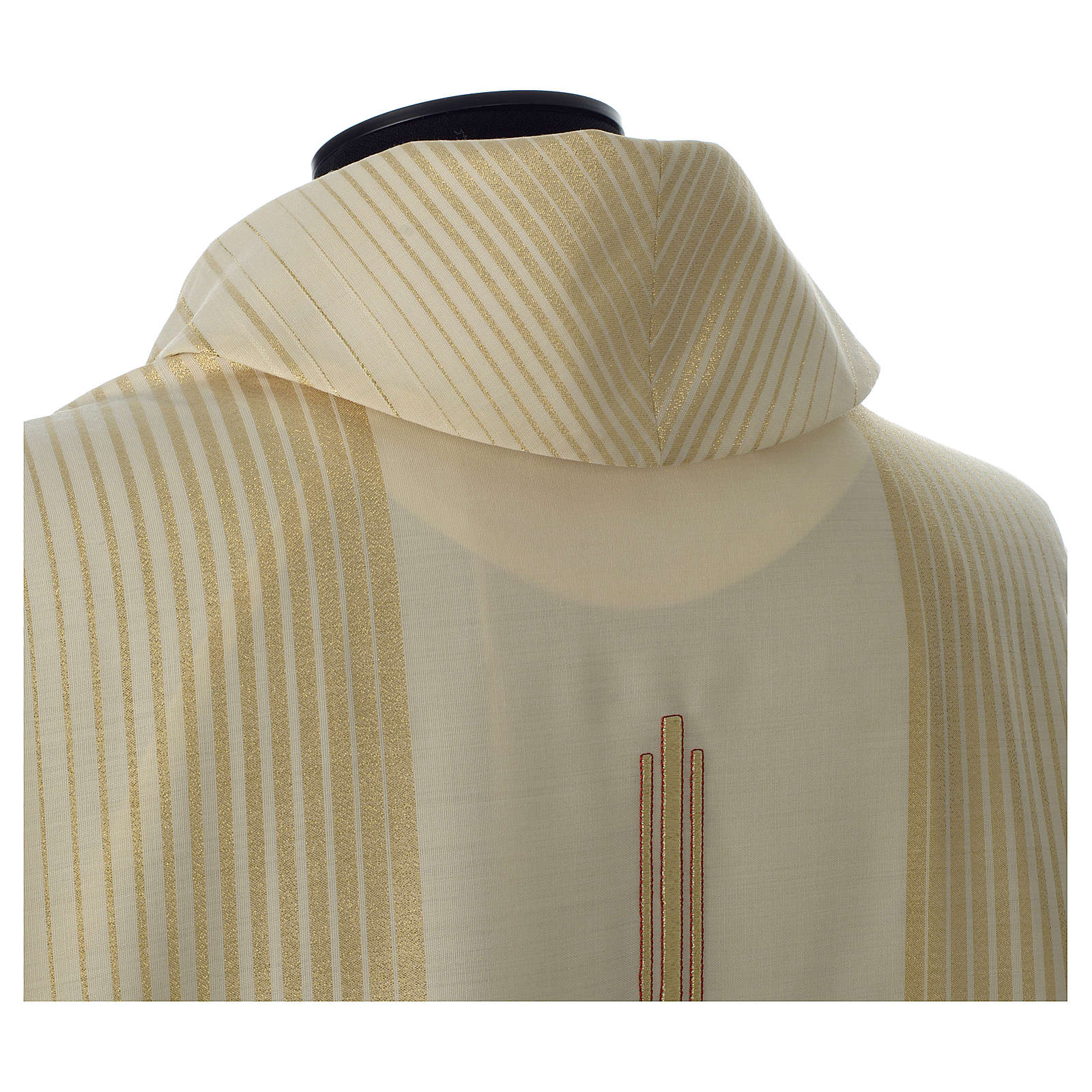 Casula in tessuto rigato lana lurex 4