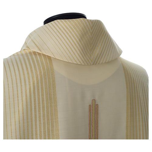 Casula in tessuto rigato lana lurex 6