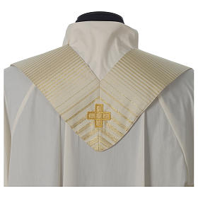 Cross chasuble wool and lurex s8
