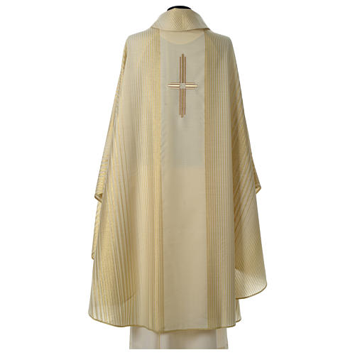Cross chasuble wool and lurex 5