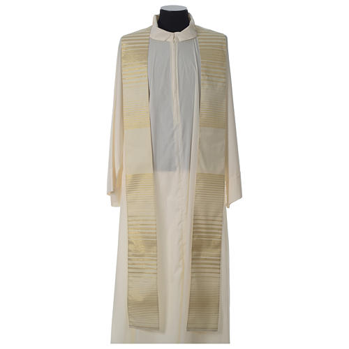 Cross chasuble wool and lurex 7