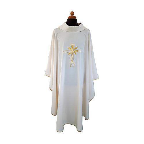 Casula tessuto Vatican ricamo oro e argento 1