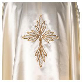 Casula in raso ricami oro con croce s2