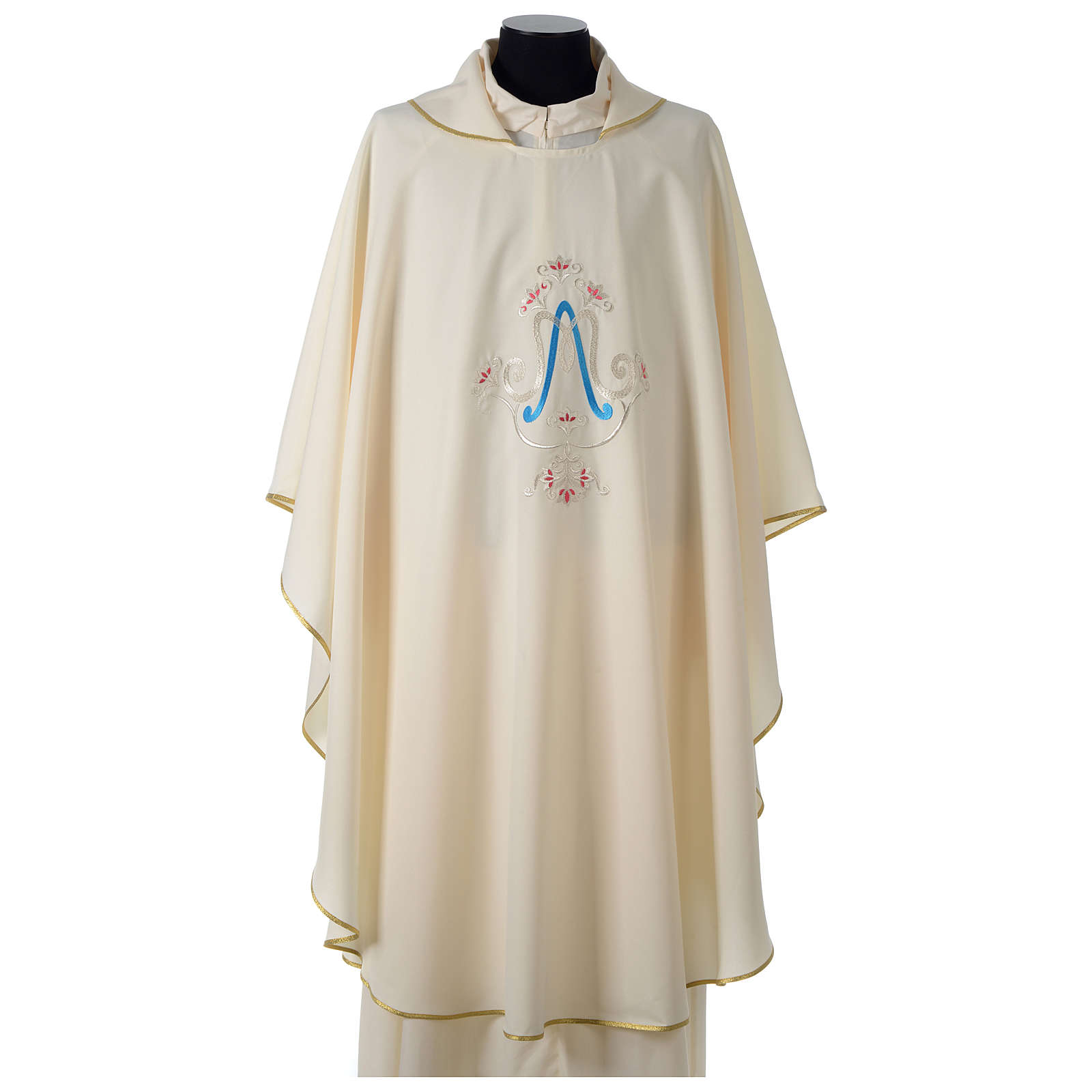 Chasuble bleue symbole marial 4