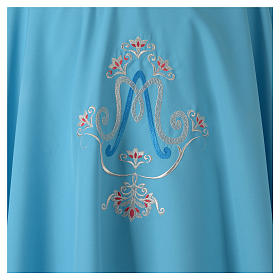 Chasuble bleue symbole marial s3