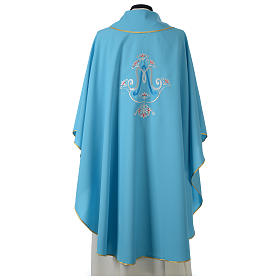 Chasuble bleue symbole marial s4