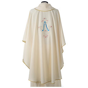 Chasuble bleue symbole marial s5