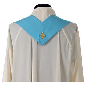 Chasuble bleue symbole marial s8