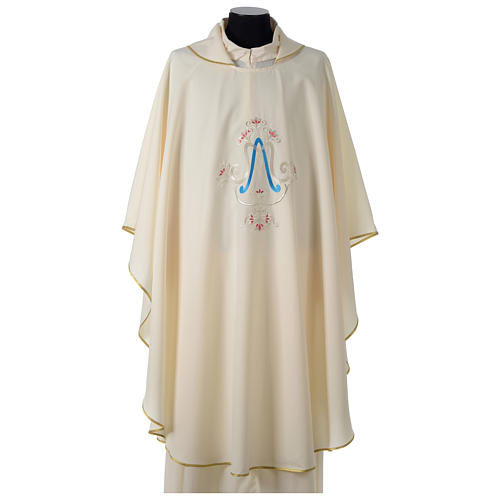 Chasuble bleue symbole marial 2