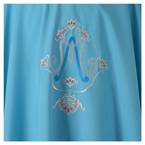 Chasuble bleue symbole marial 3