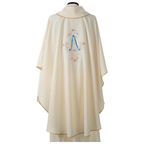 Chasuble bleue symbole marial 5