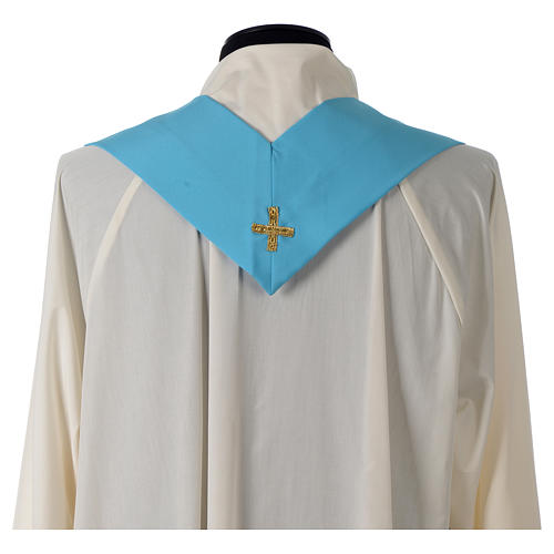 Chasuble bleue symbole marial 8