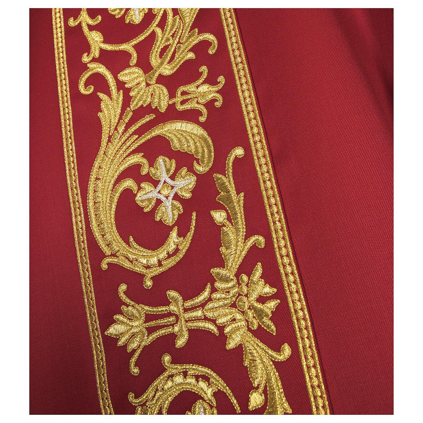 Casula lana pura ricamo barocco 4