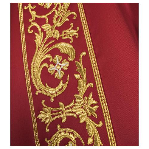 Casula lana pura ricamo barocco 6