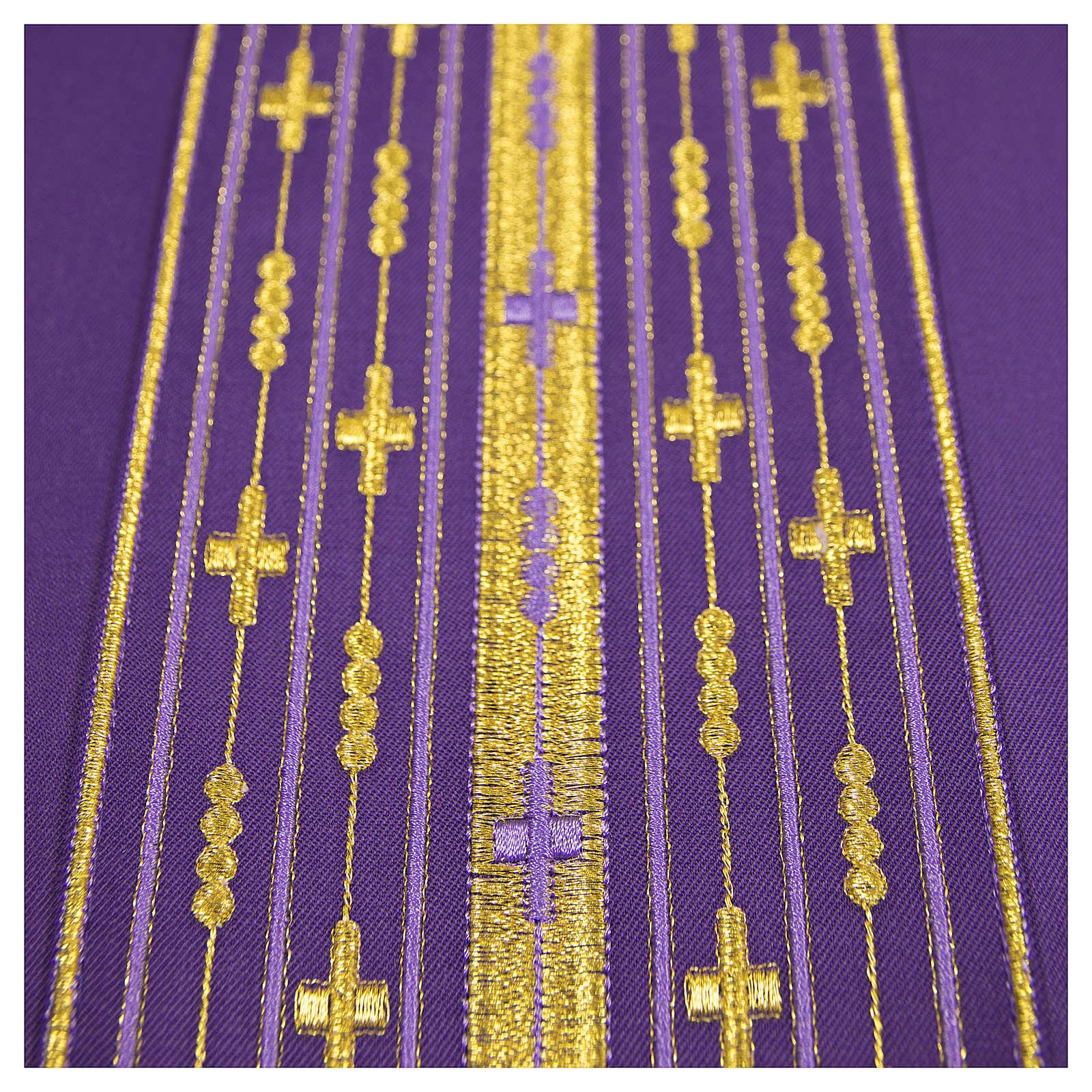 Casula lana pura ricamo lineare 4