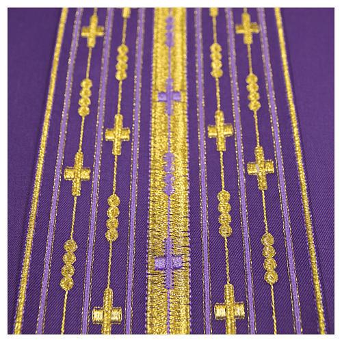 Casula lana pura ricamo lineare 6