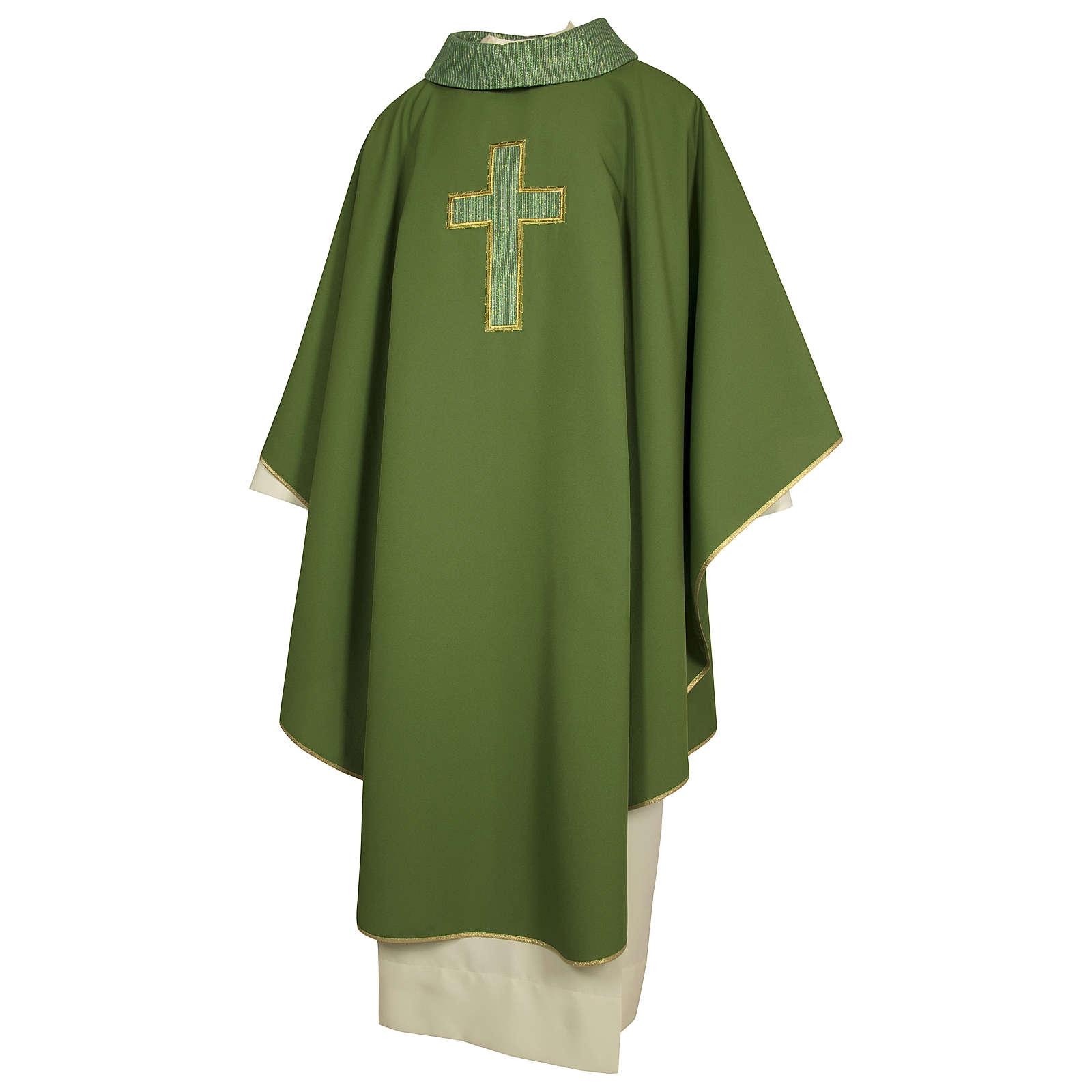 Casula poliestere croce ritaglio a mano 4