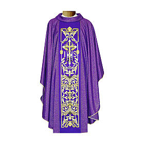 Chasuble 90% wool with embroidery, double twisted yarn s1