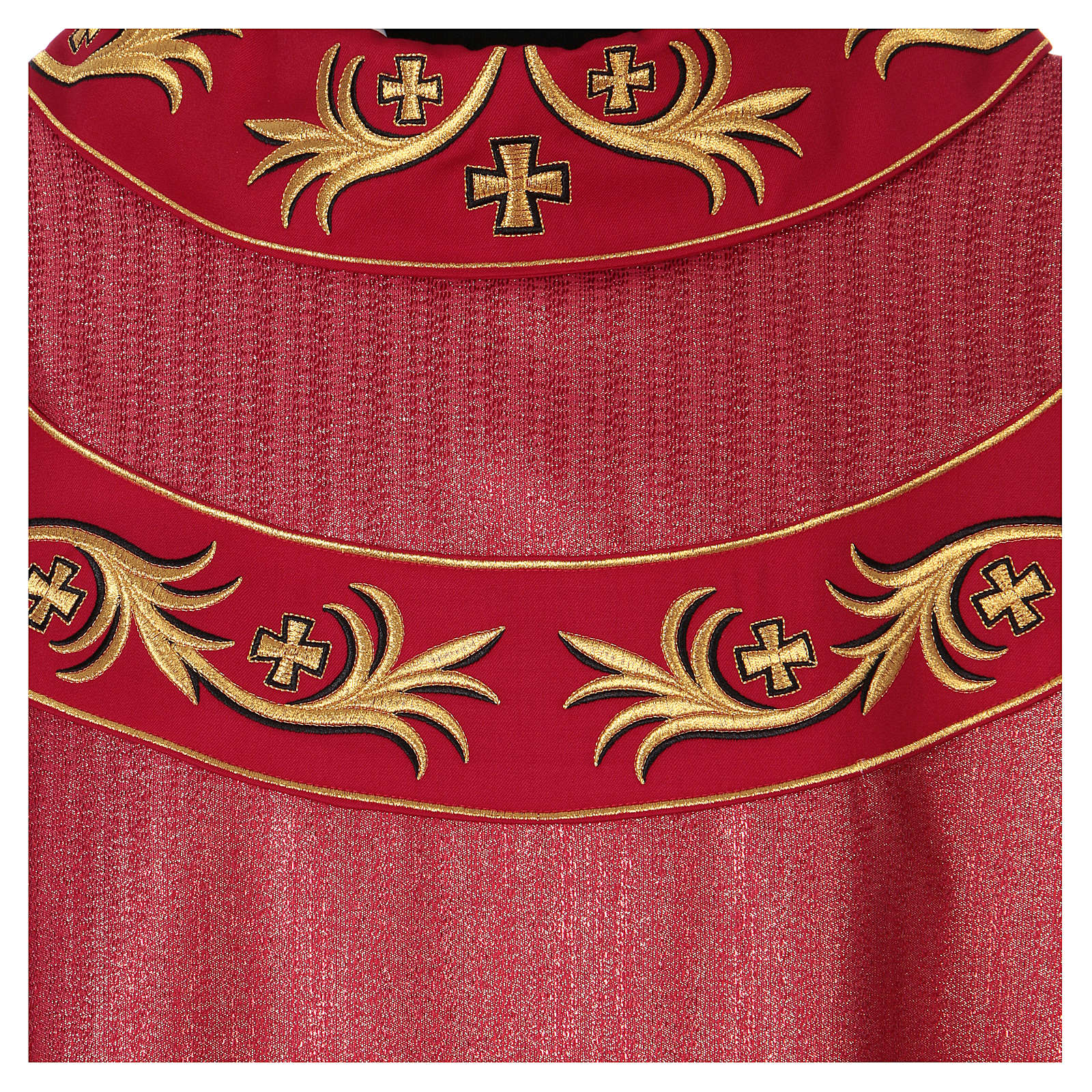 Chasuble 93% wool with embroidery on orphrey, double twisted yarn 4