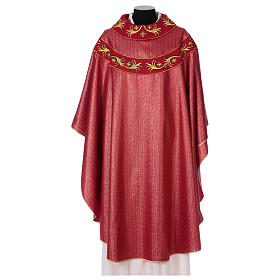 Chasuble 93% wool with embroidery on orphrey, double twisted yarn s1