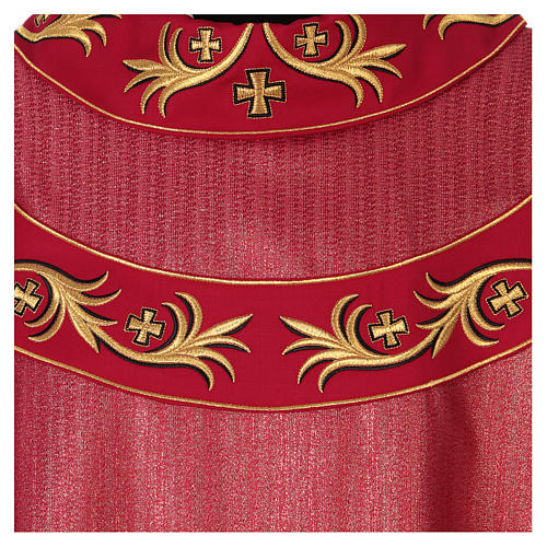 Chasuble 93% wool with embroidery on orphrey, double twisted yarn 2