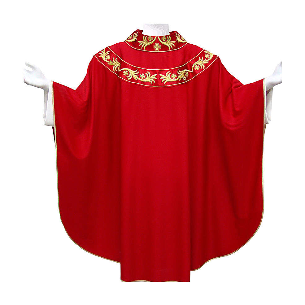 Chasuble 90% wool with golden embroidery on orphrey 4