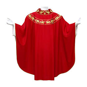 Chasuble 90% wool with golden embroidery on orphrey s1